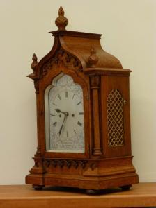 Antique Oak Gothic Clock Antique Oak Bracket Gothic Clock