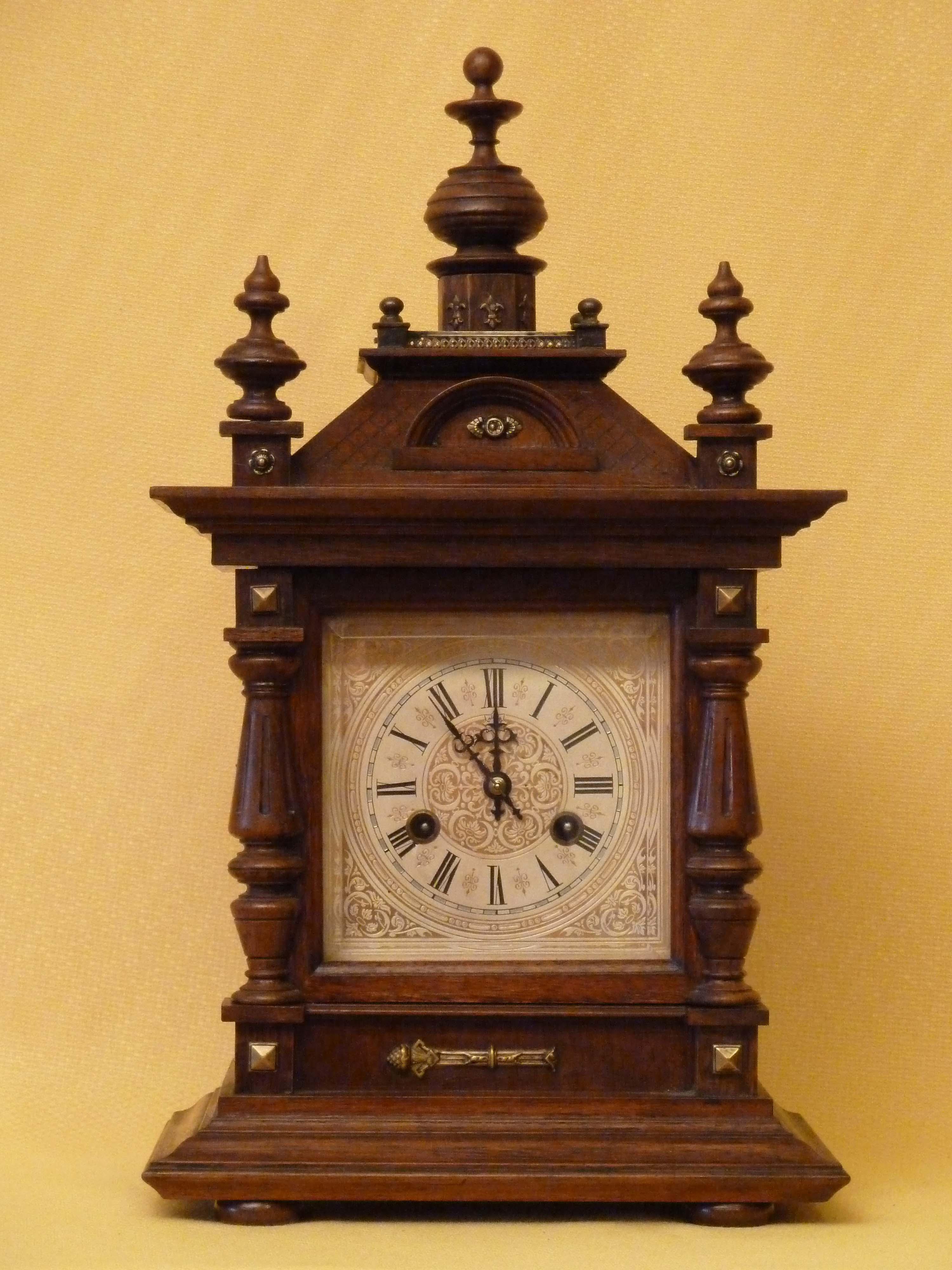 Mantel Clocks Antique Clocks Victorian Oak Clocks