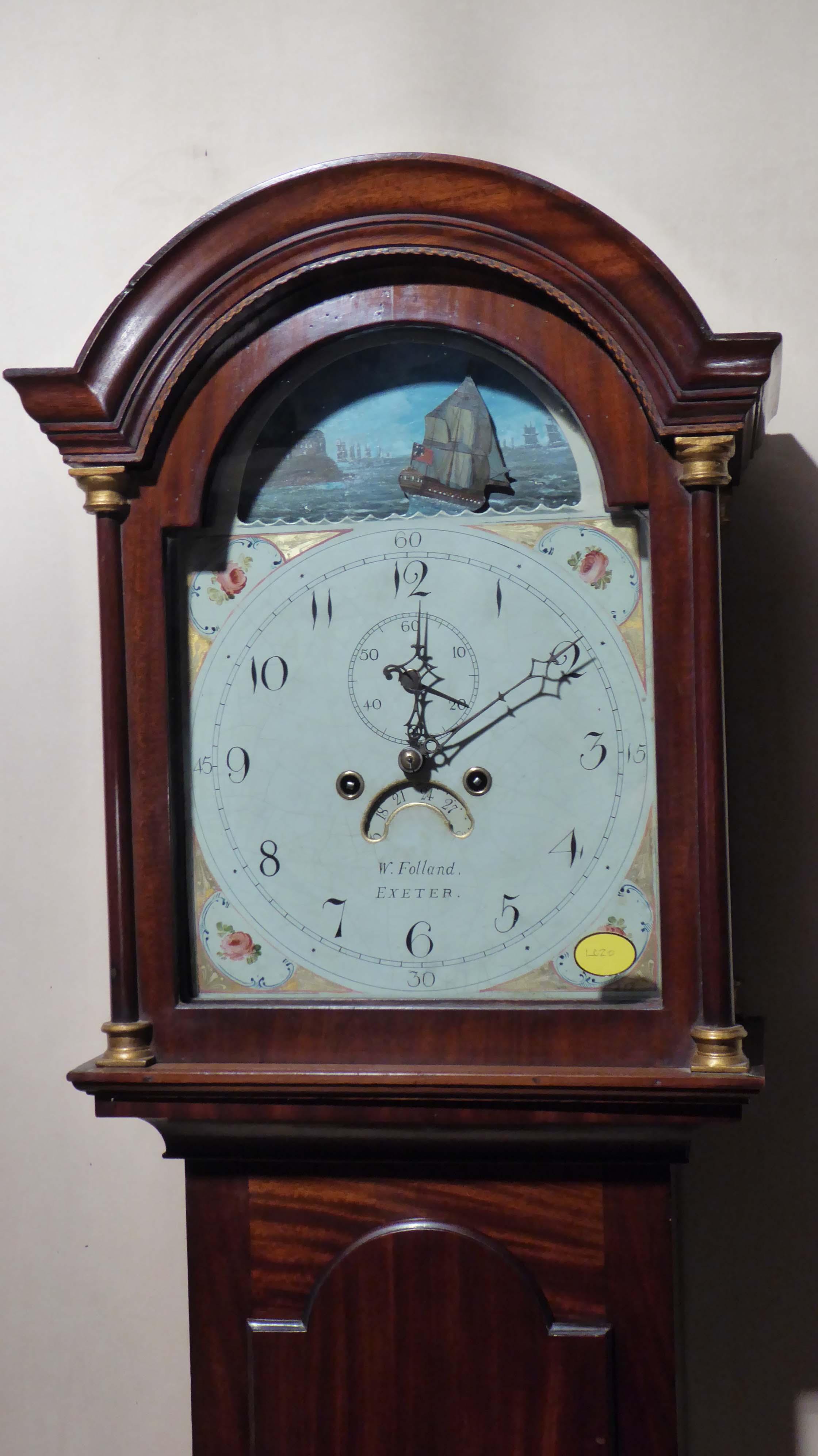 Antique Rocking Ship Longcase Grandfather Longcase Clock