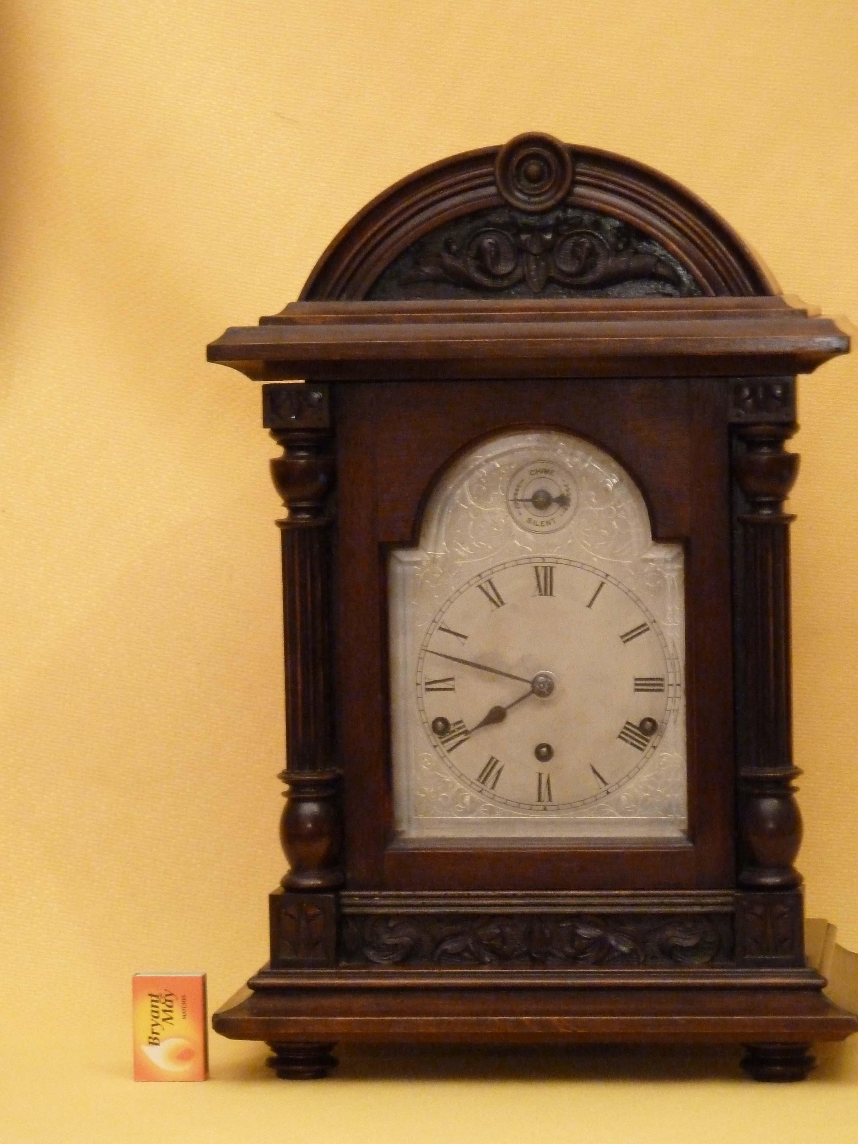Antique Westminster Mantel Clock Mahogany Antique Mantel