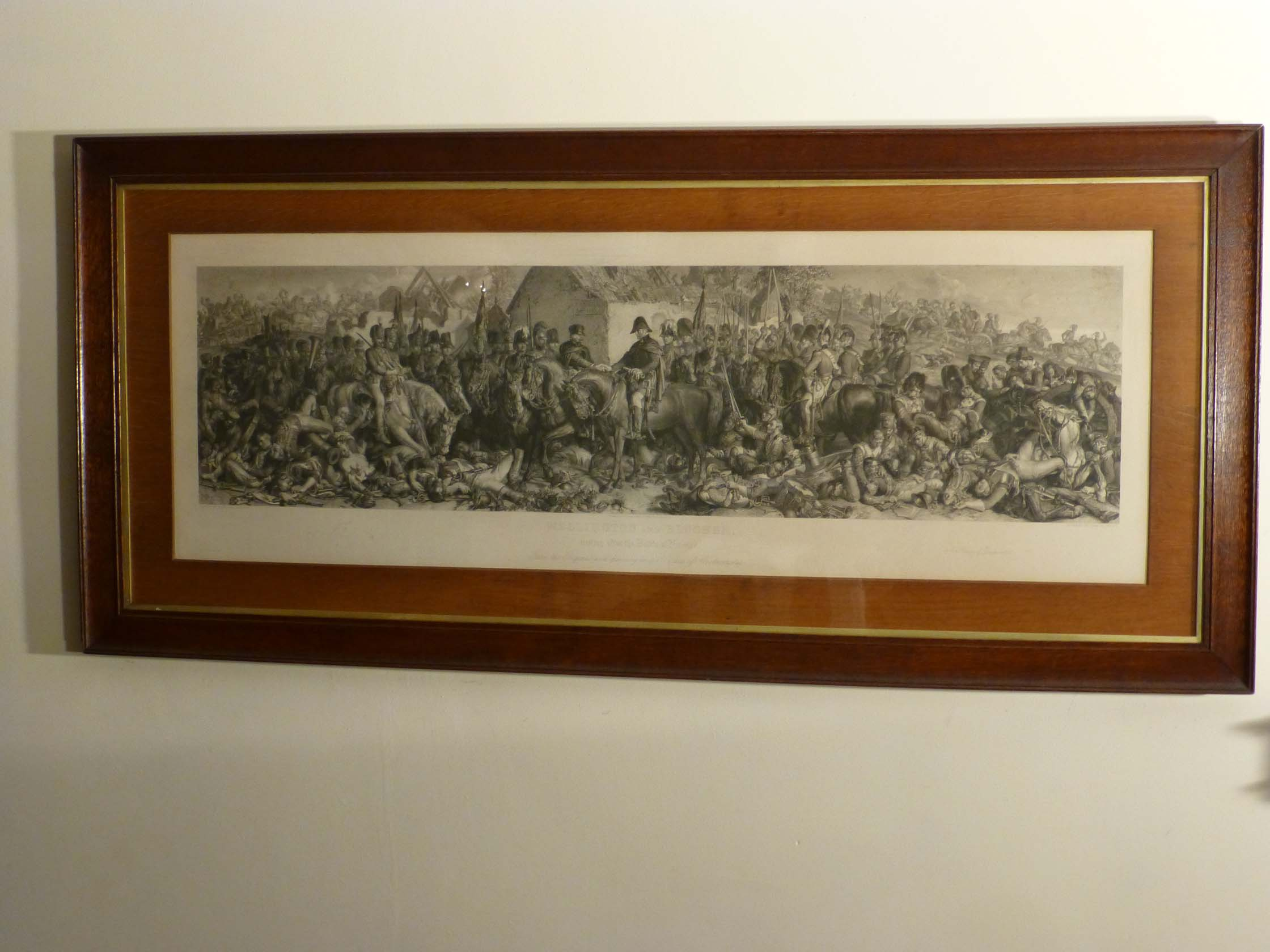 Engraving Of The Battle Of Waterloo Showing Wellington