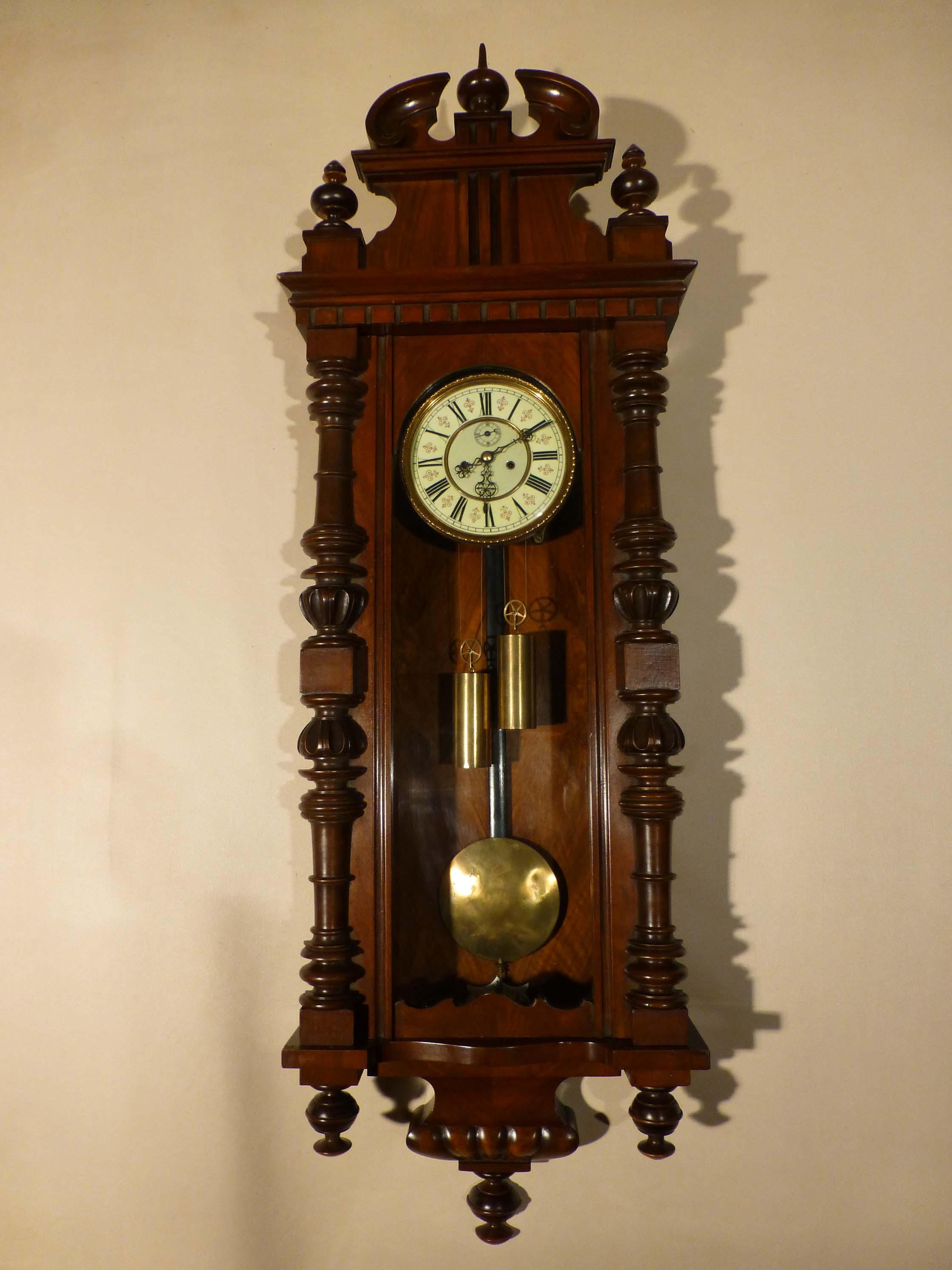 Antique Vienna Regulator Clock Old Victorian Clocks