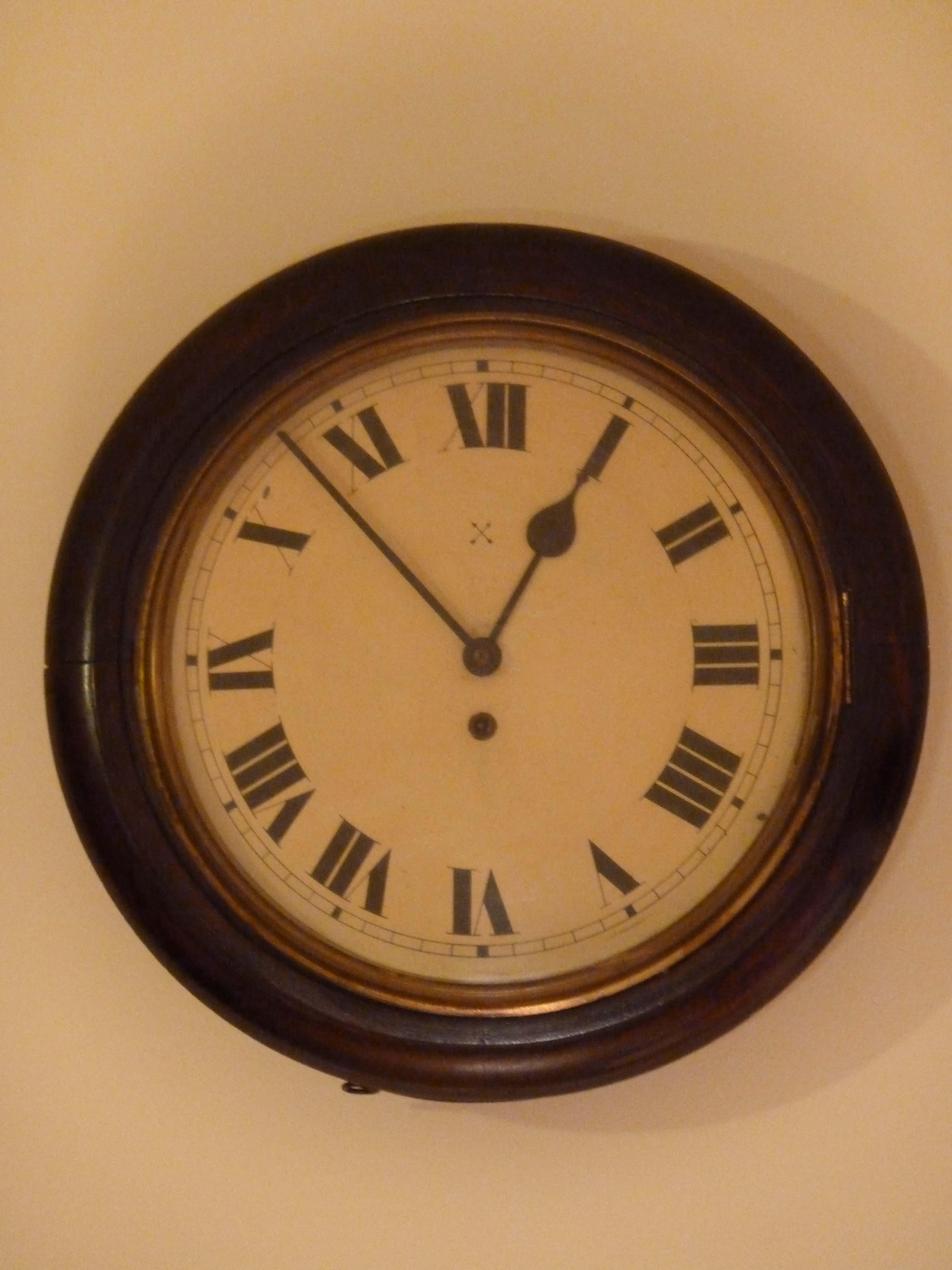 Antique Wall Clock School Clock Dial Clock Old Clocks Essex
