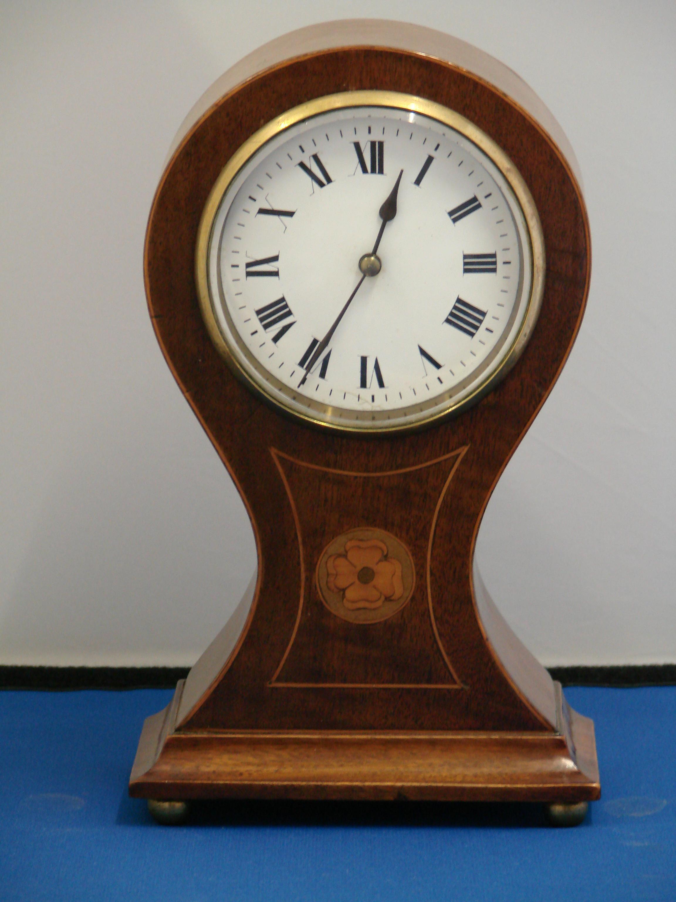 Antique Mantel Clocks >> Mantel clock | Antique Clock | Inlaid balloon Clock