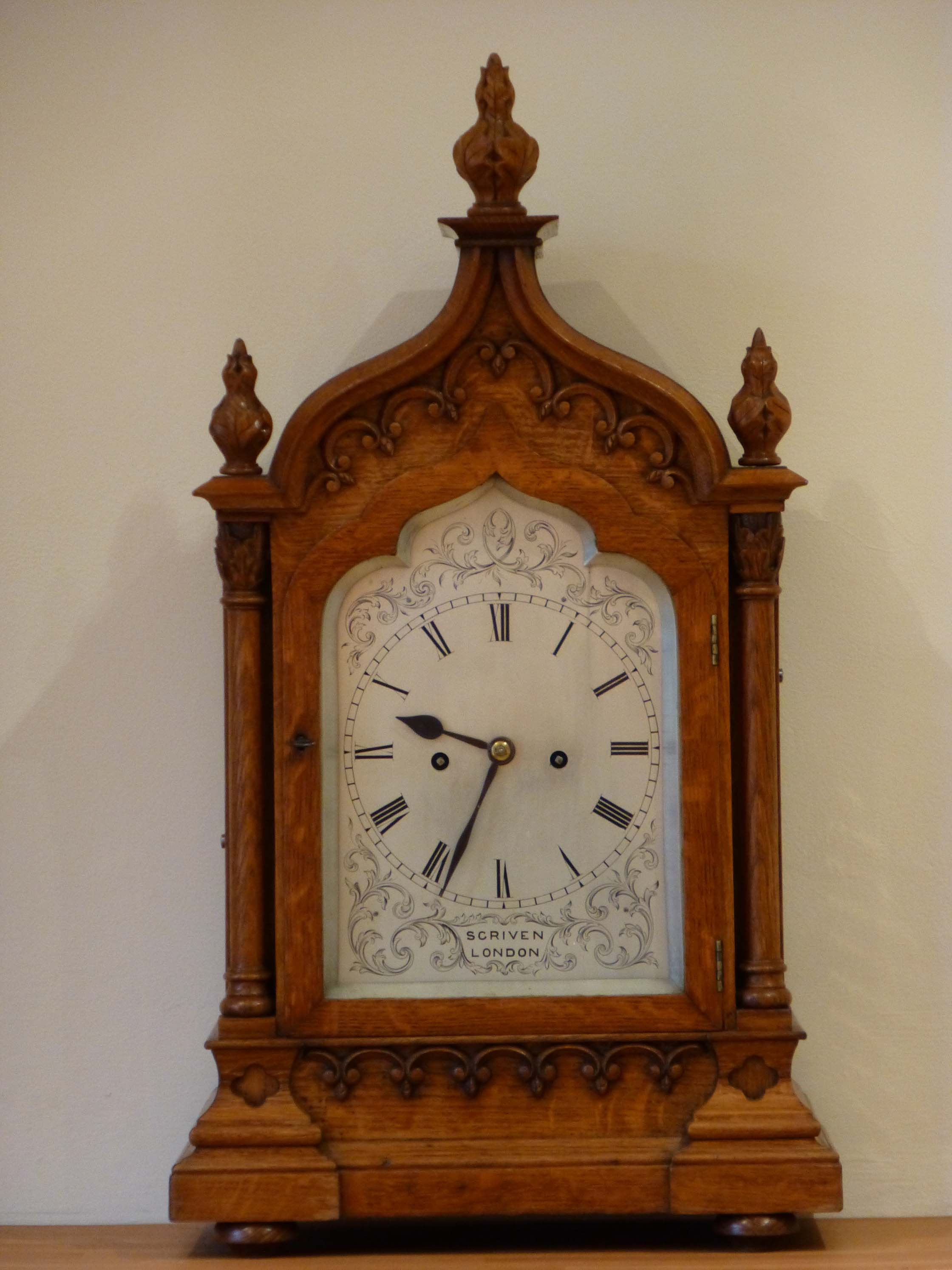 Antique Oak Gothic Clock Antique Oak Bracket Gothic Clock